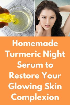 Homemade Turmeric Night Serum to Restore Your Glowing Skin Complexion