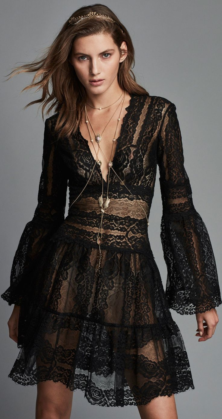 Lace dress midi march 2019  best Not your average little black dressFashion  images on