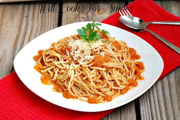 Homemade Fresh Tomato Pasta Sauce - Will Cook For Smiles