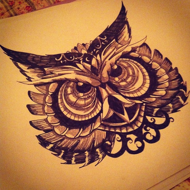 owl tattoo drawing awesome cute owls design