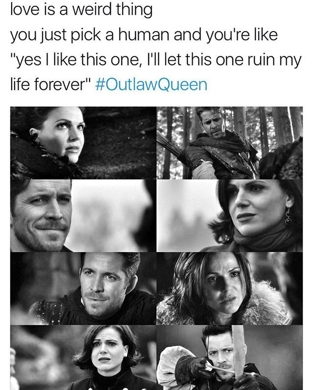 Sounds a lot like finding an OTP. #OutlawQueen