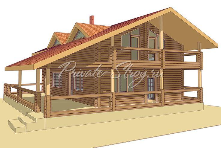 Проект дома из бруса - Бобтейл