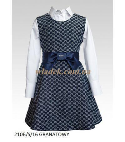 Школьная форма Sly | Школьный синий сарафан Sly 210B/S | Школьные блузки для девочек | Школьная форма Sly в интернет-магазине wladek.com.ua