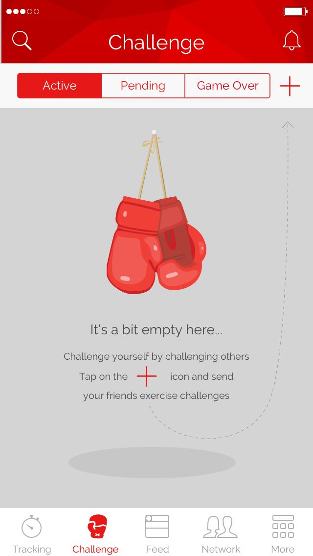 No active challenges in Khaylo Workout App for iOS