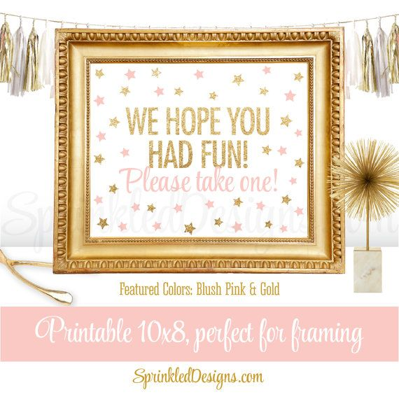 Party Favor Sign  We Hope You Had Fun Please by SprinkledDesign