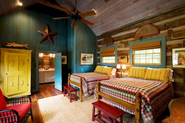 27 Creative Log Cabin Themed Bedroom for Kids