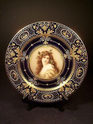 Exceptional Antique Royal Vienna Porcelain Portrait Plate Signed