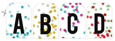 FREE printable monogram gift tags (available in these 4 different colors)...perfect for any occasion!