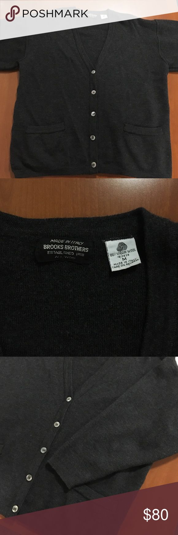 Brooks Brothers Virgin Wool Cardigan 100% Virgin Wool, Made in Italy. Worn once. Color is Heathered Grey. Brooks Brothers Sweaters Cardigan