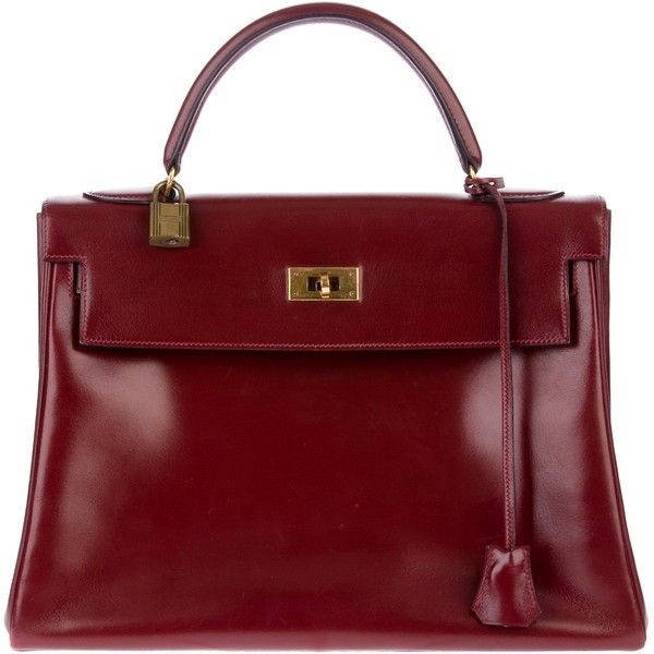 HERMES VINTAGE 'Kelly' bag found on Polyvore ( I have this in black Iove it )