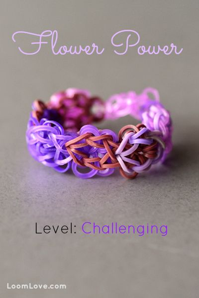 How to Make a Flower Power Bracelet #rainbowloom