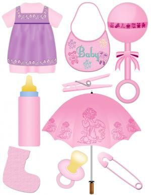 Baby girl scrapbook clipart.  My SIL would love this for my niece's baby scrapbook.