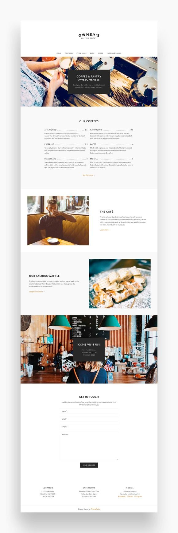 Owner – Business WordPress Theme by ThemePatio on @creativemarket
