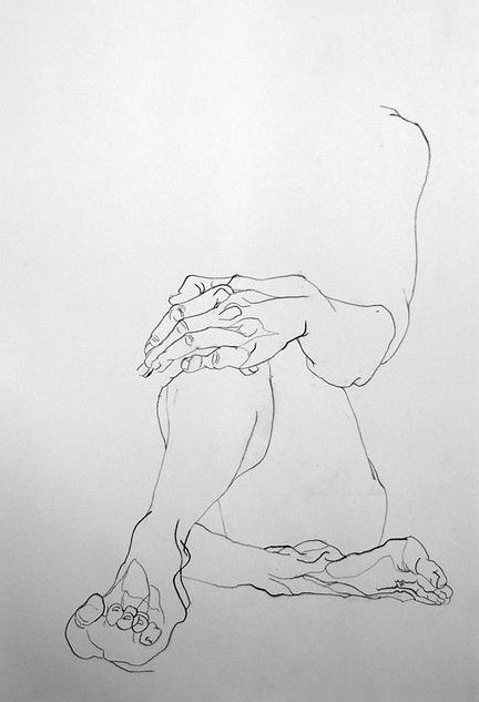 Sophie Rambert. from Melancholie, 2012......do not complete/include the face so the viewer must imagine the expression
