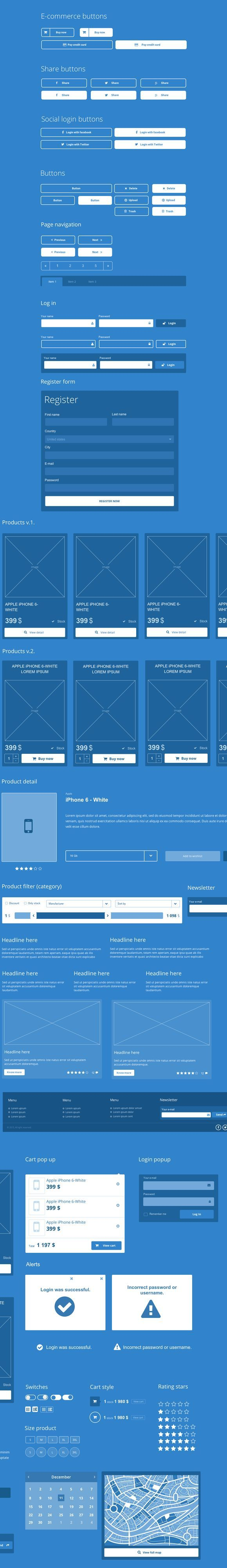 Best Ecommerce & Web UI kit for Axure