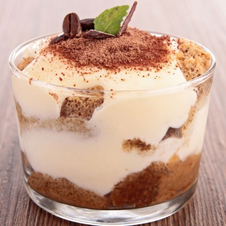 A very tasty recipe for six tiramisu parfaits. These are lovely individual desserts.