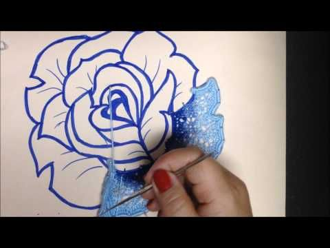 (16) FLORES CON RED TUNESINA. CROCHET IRLANDES. VIDEO Nº18(1) - YouTube роза с тунисской сеточкой