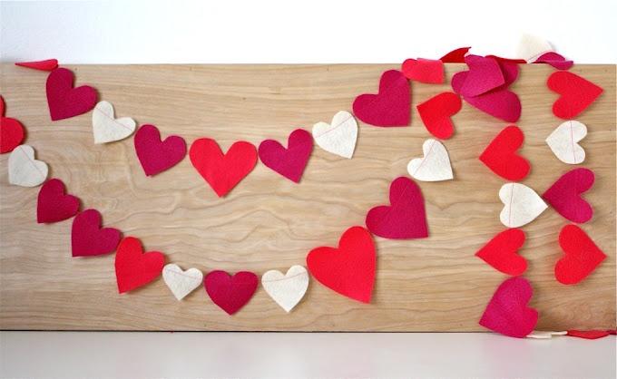 Heart GarlandValentine'S Day, Decor Ideas, Crafts Ideas, Felt Hearts, Heart Garlands, Happy Heart, Diy Decor, Garlands Tutorials, 20 Diy