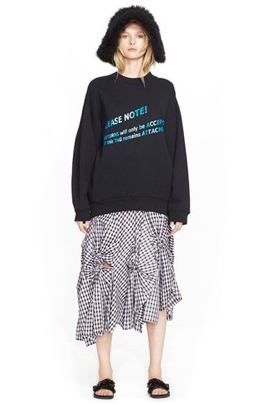 ACNE Studios Sweatshirt & Creatures of the Wind Skirt available at #Nordstrom