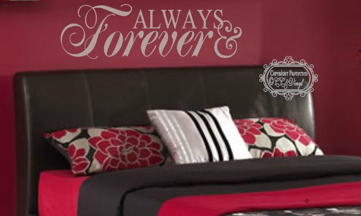 Always and Forever Bedroom Wall Decal