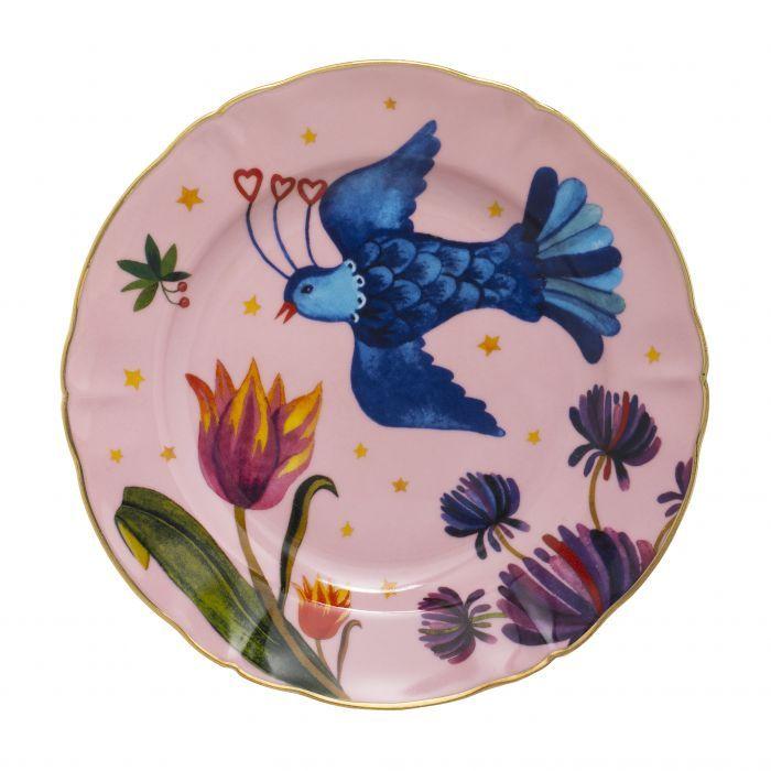 Bitossi Home Funky Table Ontbijtbord Little Bird O 20 5 Cm