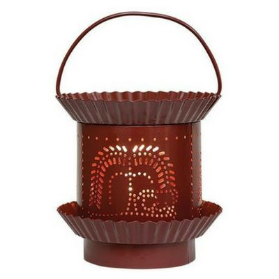 Burgundy Willow Electric Tart Warmer - Our Burgundy Willow Electric Tart Warmer has a painted sheet metal base with fluted pan details and a heavy gauge wire handle. You will love the glossy burgundy paint finish.