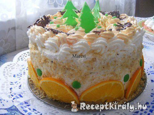 Karácsonyi narancs torta