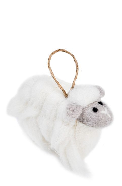 Wooly Sheep Ornament from LEIF via The Third Row