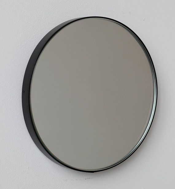 Modern Bespoke Orbis Circular Wall Silver Tinted Mirror With