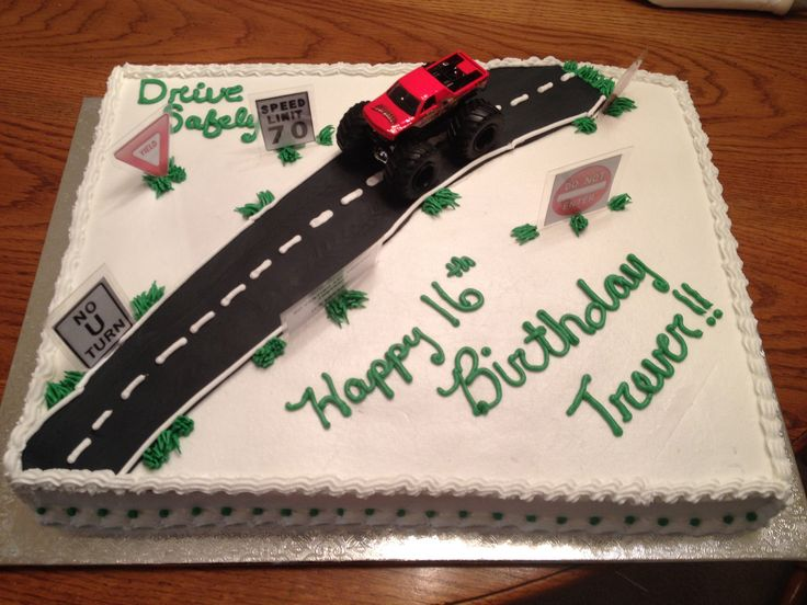 16th Birthday Cake New Driver In 2019 16 Birthday Cake