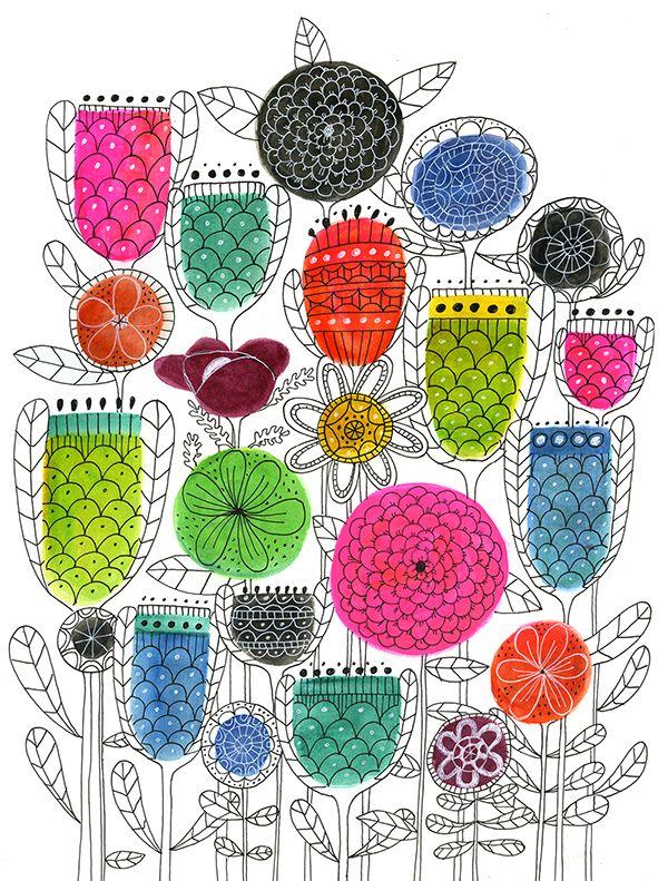 I like her artworks. http://lisacongdon.com/blog/