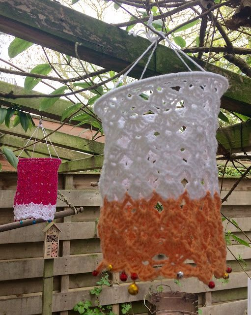 Howling at the moon: Crocheted Lanterns