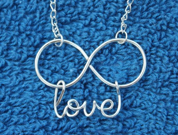 Infinity Love wire necklace