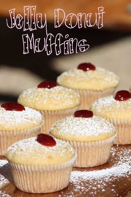 Jelly Donut Muffins | Cupcakes | Pinterest