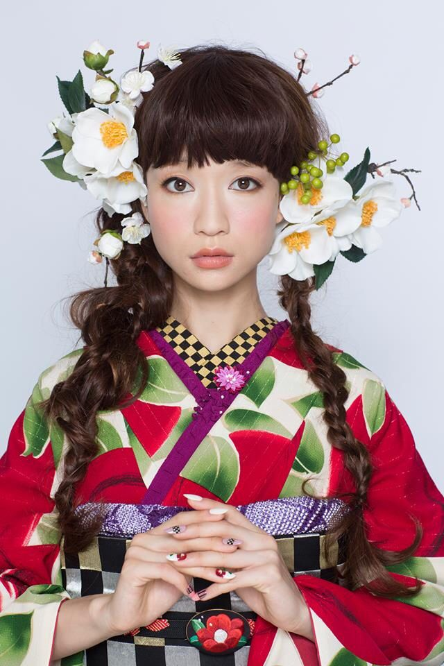 kimono-hearts furisode hair bouquet