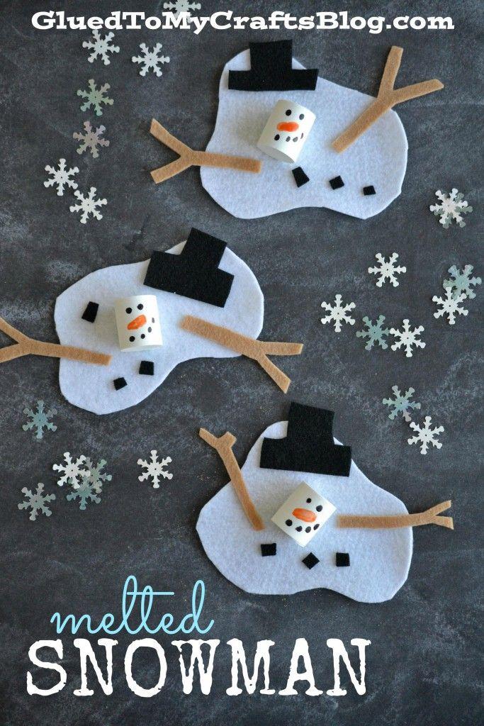Melted Snowman - Kid Craft