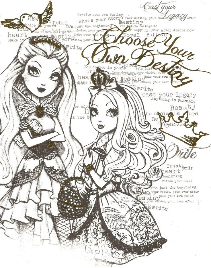 EVER AFTER HIGH COLOR PAGE 6 by obscurepairing on DeviantArt
