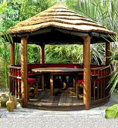 Tropical garden huts