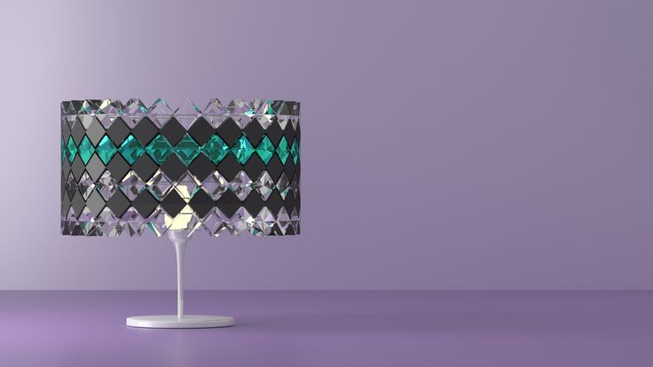 Table lamp made with Blender 3D. © Johanna Pakkala. – 3D modeling.