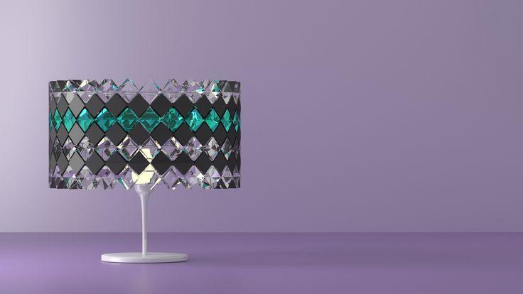 Table lamp made with Blender 3D. © Johanna Pakkala. – 3D modeling.