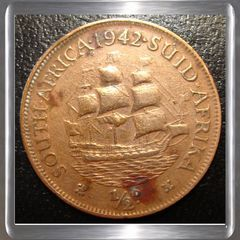 Half Penny 1942 South Africa Coin for R12.00