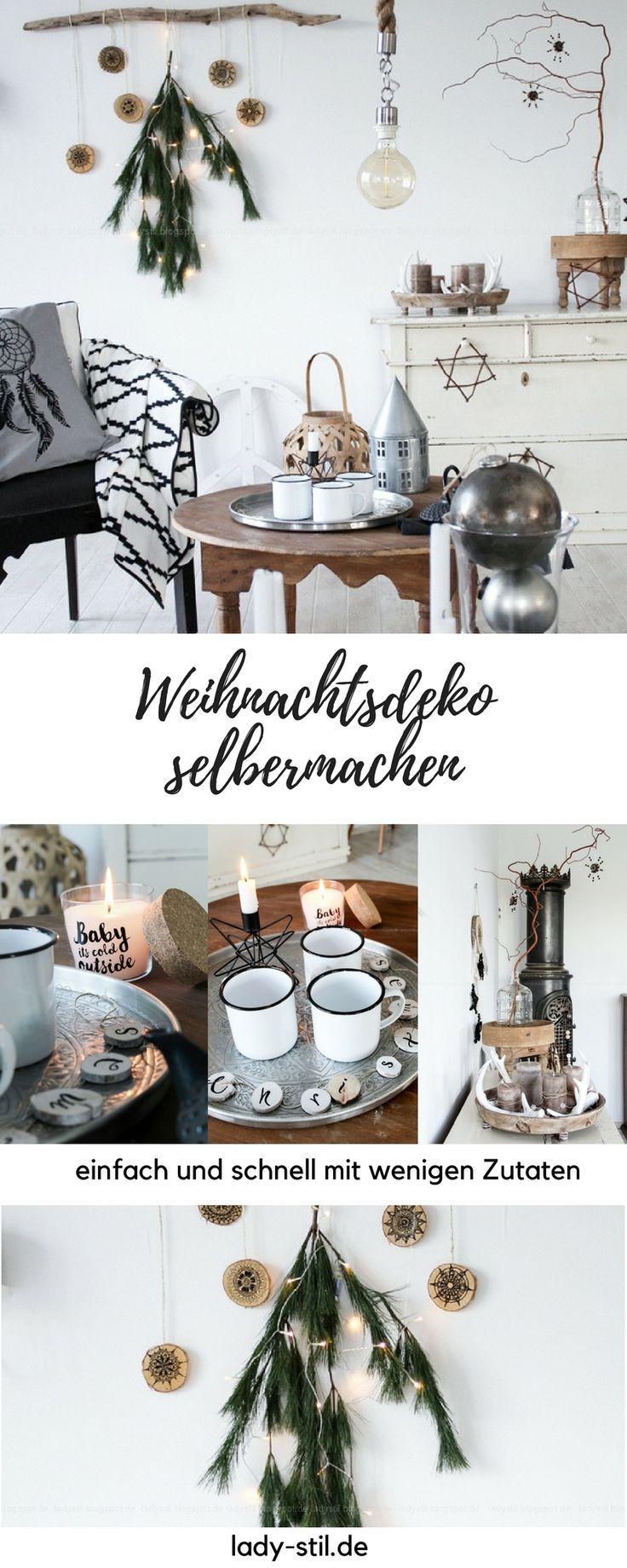Machen Sie Weihnachtsaccessoires in Bohostil selbst! Einfaches Heimwerken mit Tannenbaum   – DEKO // X-mas