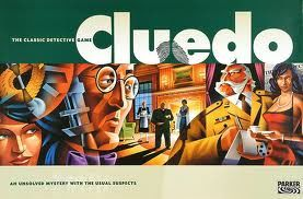 Cluedo è un gioco da tavolo con un'ambientazione che riproduce l'atmosfera dei gialli