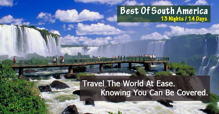 #USATourPackages  #AmericaHolidays  #AmericaTours Book Budget #HolidayPackages for South America 2015 from Delhi India. which is famous of land of remarkable natural beauty, unique native wildlife, and untold adventure.