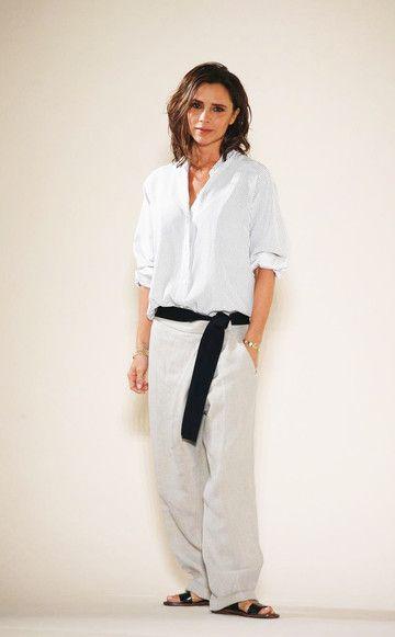 Victoria Beckham zeigt sich nach der Modeschauihrer Spring/Summer 2017-Kollektion in einem neuen Look.