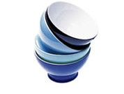 the Breakfast Bowl by Dibbern in cornflower, pale blue, lavender and navy. From Beclau Homewares, SydneyBeclau Homewares, Pale Blue, Breakfast Bowls