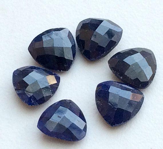 WHOLESALE 10 Pcs Blue Corundum Cabochons Blue by gemsforjewels