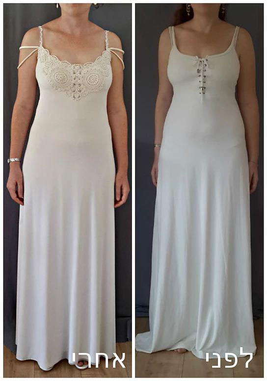בהדרה - שמלות כלה אקולוגיות. שמלה פשוטה