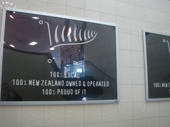 Our ever poular snapframes in  action in a heavy foot traffic area at New World Victoria Park, Auckland. http://www.designation.co.nz/