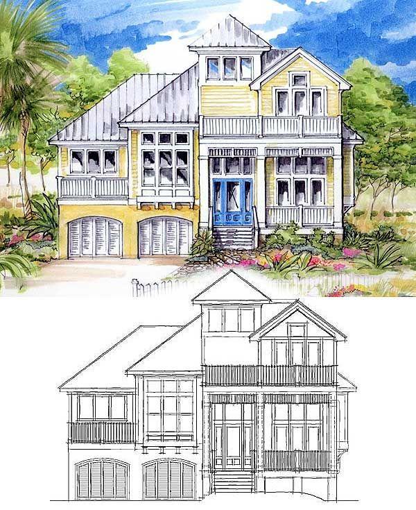 Best 25+ Coastal House Plans Ideas On Pinterest | Lake House Plans, Cottage  House Plans And Beach Homes